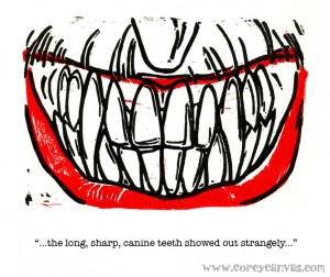 long_sharp_canine_teeth_text