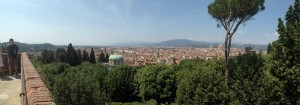 DECENT VIEWS from Fort Belvedere, just above the Boboli Gardens.